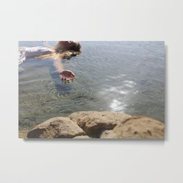Submerge Photograph in New Zealand in a beautiful bay Metal Print