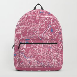 BIRMINGHAM Map - England   Pink + Colors, Review My Collections Backpack