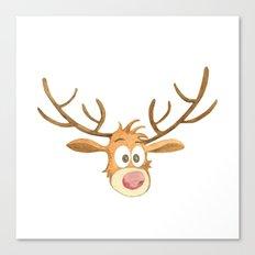 Reindeer Noel Painting Canvas Print