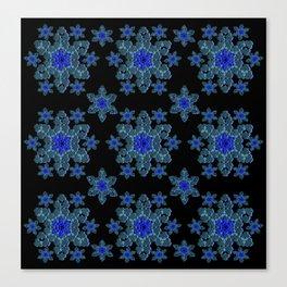 Snowflake Floral Canvas Print