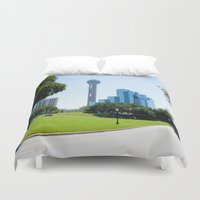 dallas Duvet Covers featuring Reunion Tower, Dallas by Robert McHugh