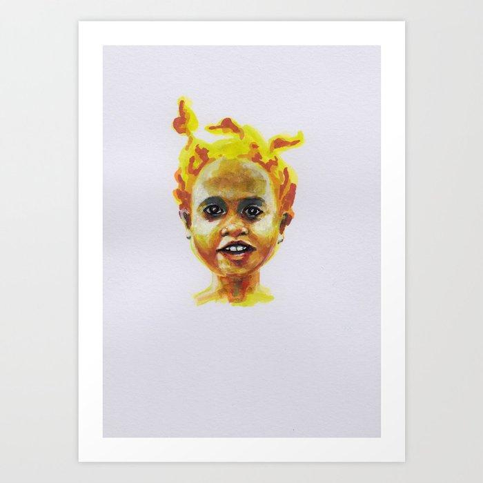 Petites têtes 9 Art Print