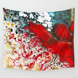 Abstract Field of Flowers - Vulpecula Wall Tapestry