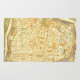 Vintage Map of Vienna Austria (1547) Rug