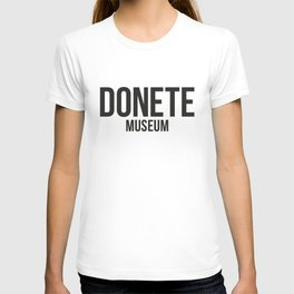 DONETE MUSEUM logo text design in black&white T-shirt