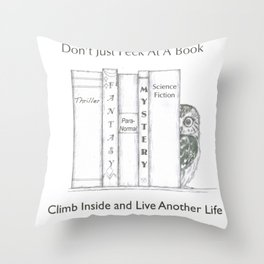 Climb Into A Book Throw Pillow