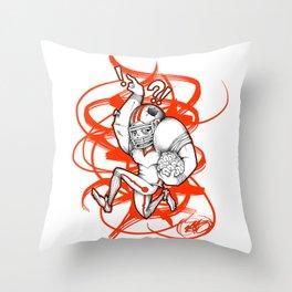 Football Zombie Throw Pillow