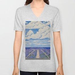 Lavender Fields Forever  Unisex V-Neck