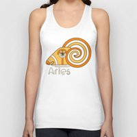 deco Tank Tops featuring Deco Aries by Jorge Garza