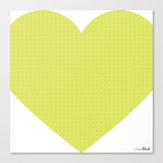I love you this much... (green) Canvas Print