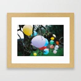 balloon tree Framed Art Print