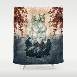 The Forest Folk Shower Curtain