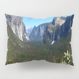 Bridal Veil Falls From Tunnel View Point - Yosemite Valley Pillow Sham
