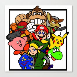 Super Smash 64 Roster Canvas Print