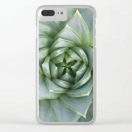 Succulent Spiral Clear iPhone Case