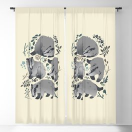 Badgers of the forest Blackout Curtain