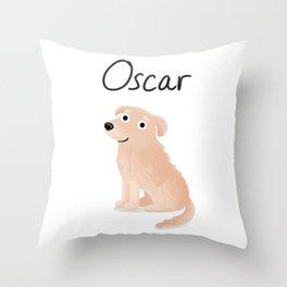 "Custom Artwork, ""Oscar"" Throw Pillow"