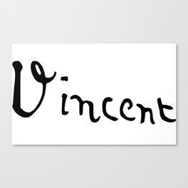 Vincent's signature Canvas Print