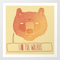 I Am The Walrus Art Print