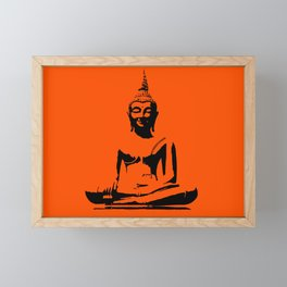 Buddha in lotus Framed Mini Art Print