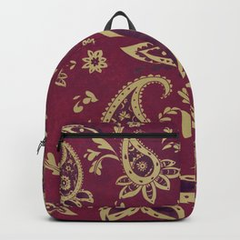 Paisley in Gold Backpack