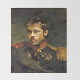 Brad Pitt - replaceface Throw Blanket