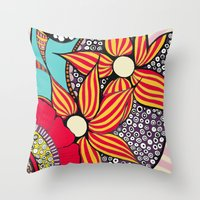 hamsa Throw Pillows featuring Hamsa by Sophia Skipka