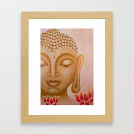 Buddha & Lotus 5 Framed Art Print