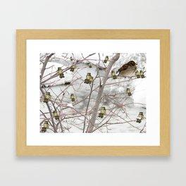 Winter Hangouts Framed Art Print