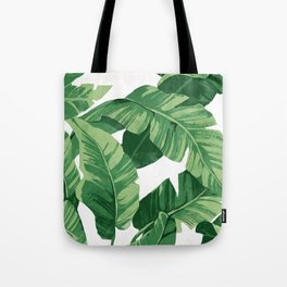 Tropical banana leaves IV Tote Bag