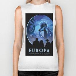 NASA Retro Space Travel Poster #4 - Europa Biker Tank