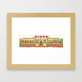 Classic American Diner Framed Art Print