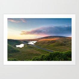 Vanishing Lakes,Ireland,Northern Ireland,Ballycastle Art Print