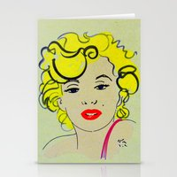 marylin monroe Stationery Cards featuring Out with Marylin by Irène Sneddon