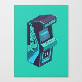 Polybius Arcade Game Machine Cabinet - Isometric Green Canvas Print