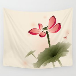 Oriental Lotus 001 Wall Tapestry