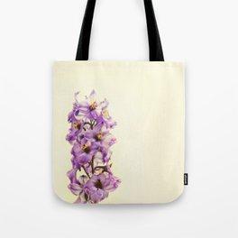 Purple Larkspur Delphinium Flowers Tote Bag