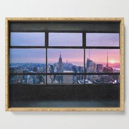 New York City Skyline Views Serving Tray