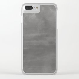 Burst of Color Pantone Pewter Abstract Watercolor Blend Clear iPhone Case