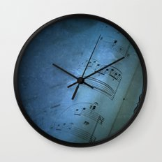 Blue Music Wall Clock