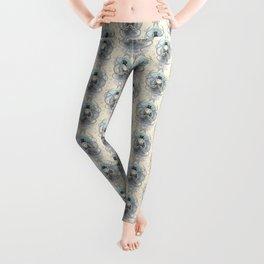 Victorian squid Damask pattern Leggings