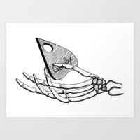 ouija Art Prints featuring Ouija by Rochelle Henderson