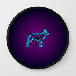 NEON GERMAN SHEPHERD DOG Wall Clock