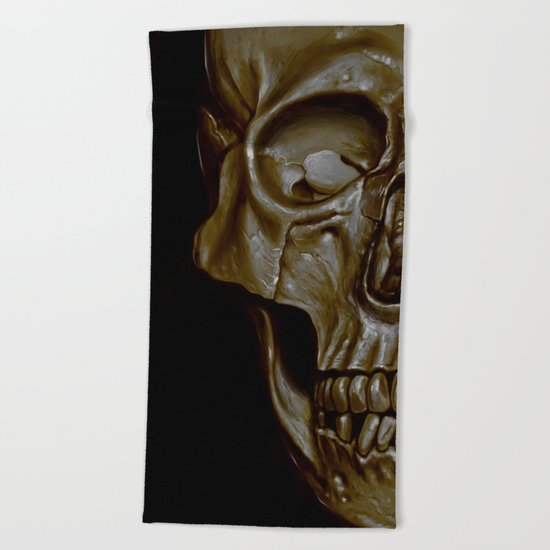 Skulled Beach Towel
