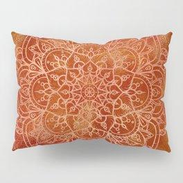 Orange Mandala Pillow Sham
