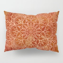 Orange Mandala Pillow Sham