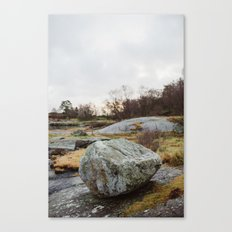 Winter landscape south of Norway Canvas Print