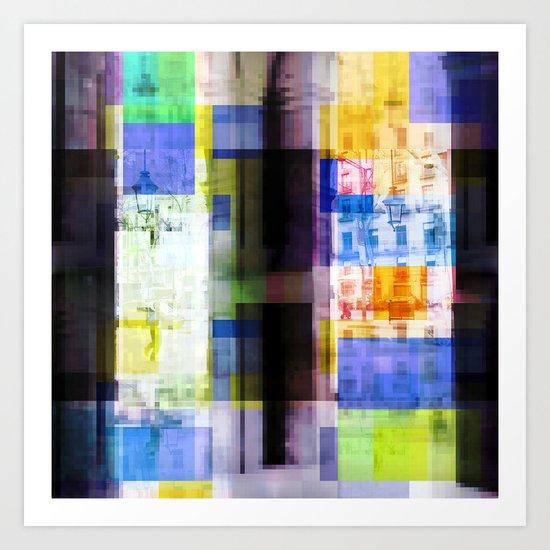 Friday 22 March 2013: auto or symptom antics Art Print