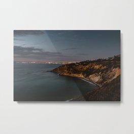 California Coast Twilight Metal Print