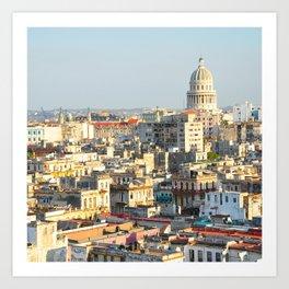 Capitolio-Nacional-Havana-Cuba- Art Print